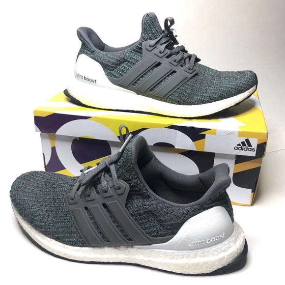 new style 35fd3 eb4eb Adidas Ultraboost 4.0 Grey Four Running Shoes